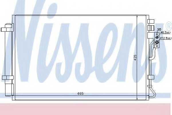Конденсатор кондиционера NISSENS 940216 - изображение