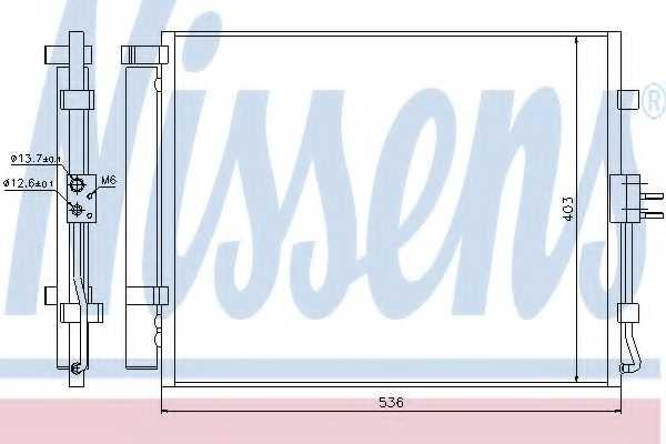 Конденсатор кондиционера NISSENS 940217 - изображение