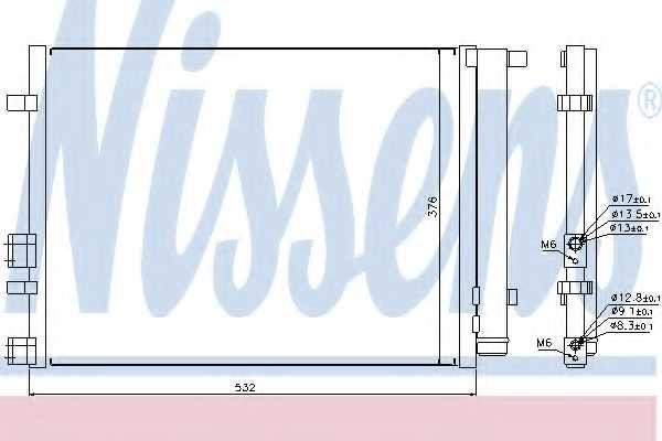 Конденсатор кондиционера NISSENS 940221 - изображение