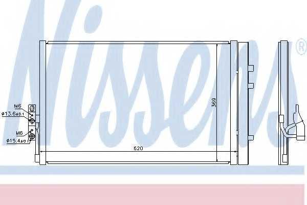 Конденсатор кондиционера NISSENS 940226 - изображение