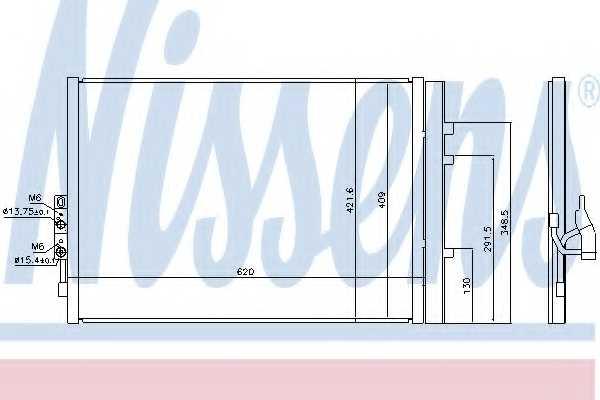 Конденсатор кондиционера NISSENS 940227 - изображение