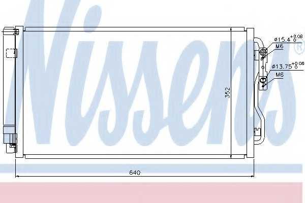 Конденсатор кондиционера NISSENS 940236 - изображение