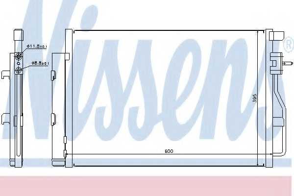 Конденсатор кондиционера NISSENS 940246 - изображение