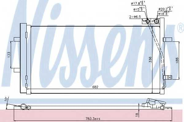 Конденсатор кондиционера NISSENS 940255 - изображение