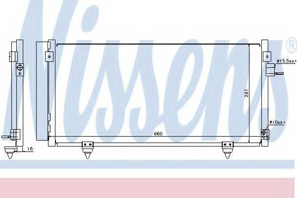 Конденсатор кондиционера NISSENS 940257 - изображение