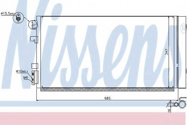 Конденсатор кондиционера NISSENS 940259 - изображение