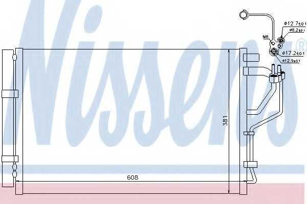 Конденсатор кондиционера NISSENS 940268 - изображение