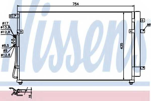 Конденсатор кондиционера NISSENS 940269 - изображение