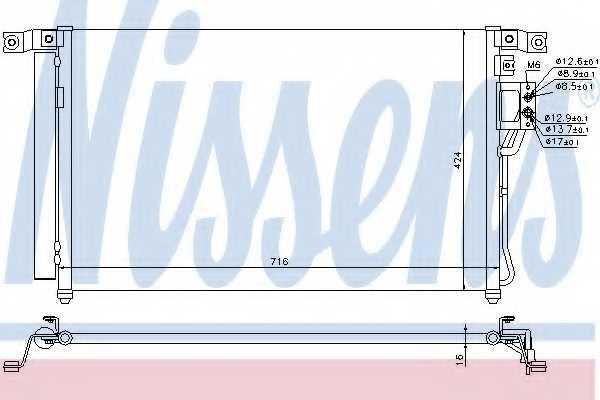 Конденсатор кондиционера NISSENS 940278 - изображение