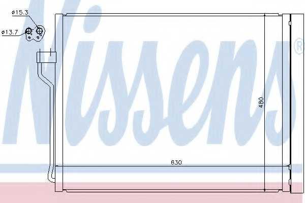 Конденсатор кондиционера NISSENS 940288 - изображение
