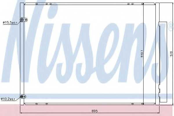Конденсатор кондиционера NISSENS 940298 - изображение