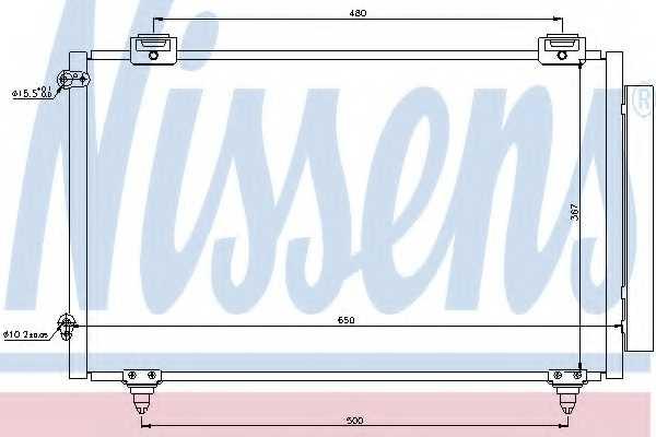 Конденсатор кондиционера NISSENS 940299 - изображение