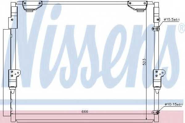 Конденсатор кондиционера NISSENS 940304 - изображение