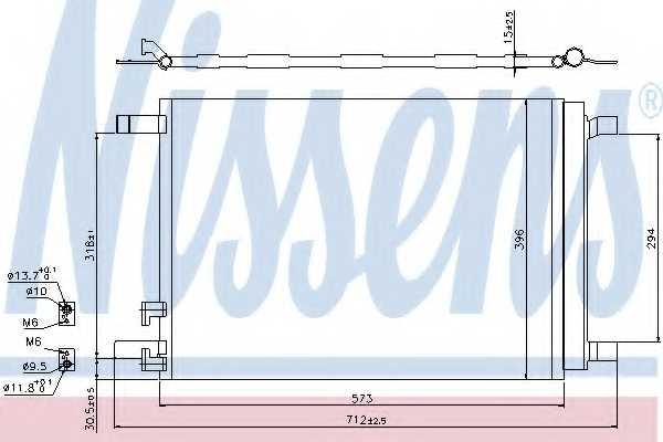 Конденсатор кондиционера NISSENS 940319 - изображение
