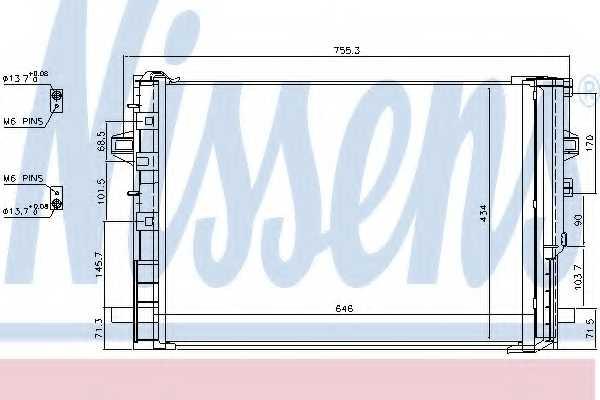 Конденсатор кондиционера NISSENS 940322 - изображение