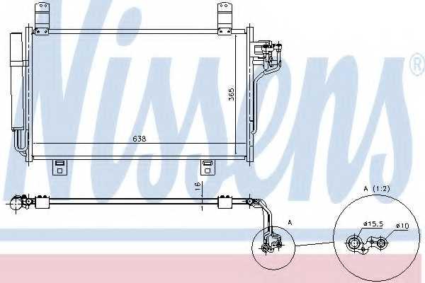 Конденсатор кондиционера NISSENS 940326 - изображение