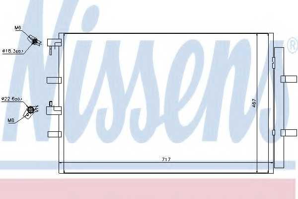 Конденсатор кондиционера NISSENS 940330 - изображение