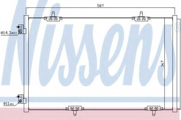 Конденсатор кондиционера NISSENS 940333 - изображение