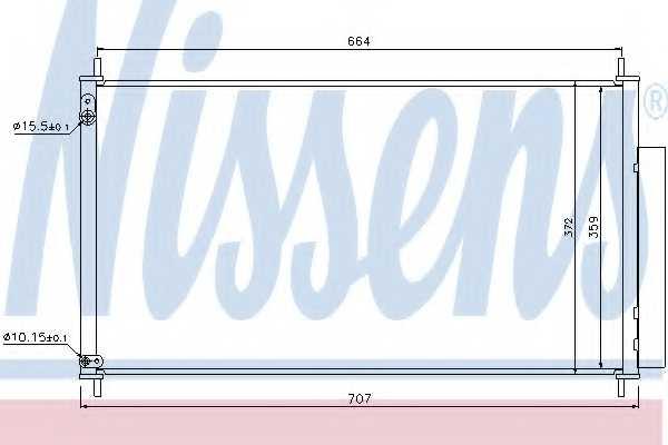 Конденсатор кондиционера NISSENS 940340 - изображение