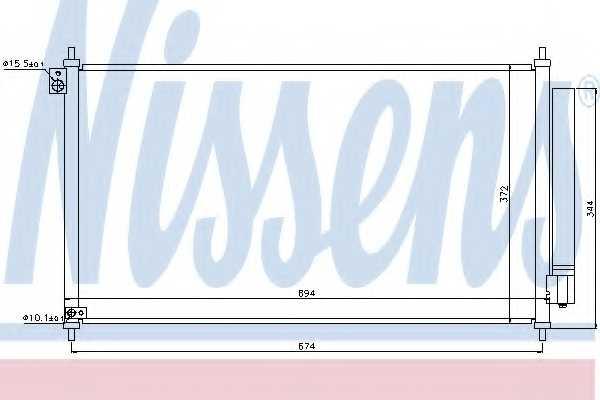 Конденсатор кондиционера NISSENS 940341 - изображение