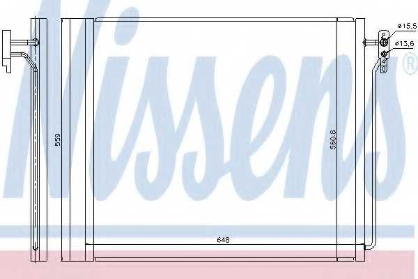 Конденсатор кондиционера NISSENS 940343 - изображение