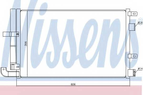 Конденсатор кондиционера NISSENS 940346 - изображение