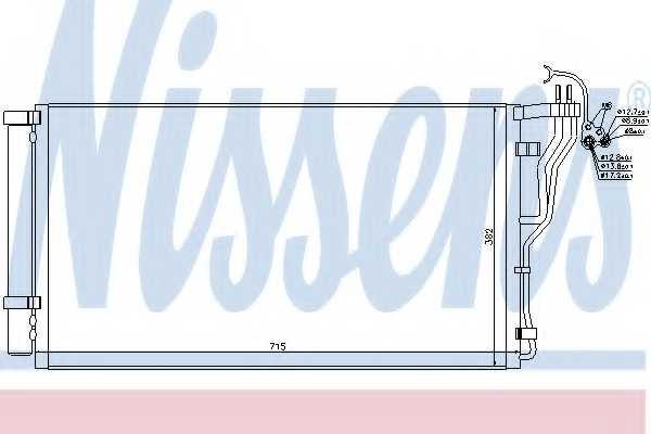 Конденсатор кондиционера NISSENS 940347 - изображение