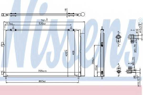 Конденсатор кондиционера NISSENS 940349 - изображение