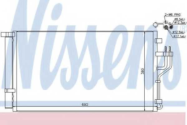 Конденсатор кондиционера NISSENS 940351 - изображение