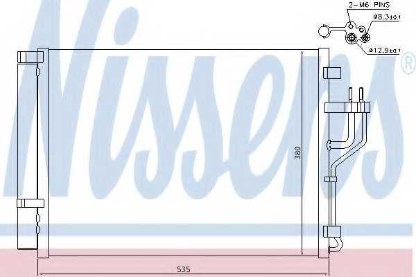Конденсатор кондиционера NISSENS 940353 - изображение