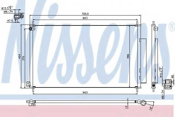 Конденсатор кондиционера NISSENS 940354 - изображение