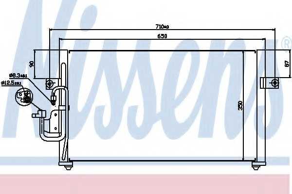 Конденсатор кондиционера NISSENS 94037 - изображение