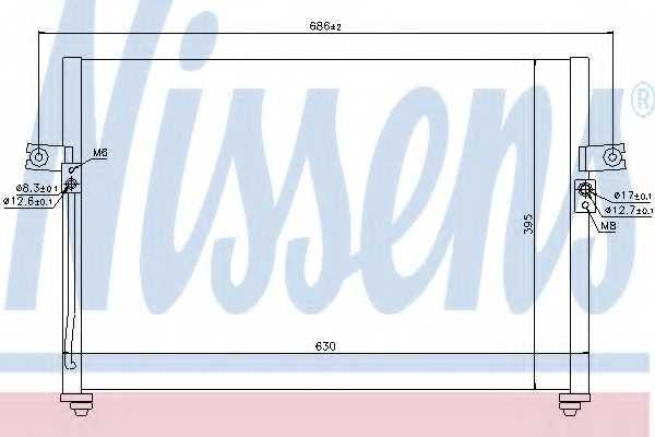 Конденсатор кондиционера NISSENS 94038 - изображение