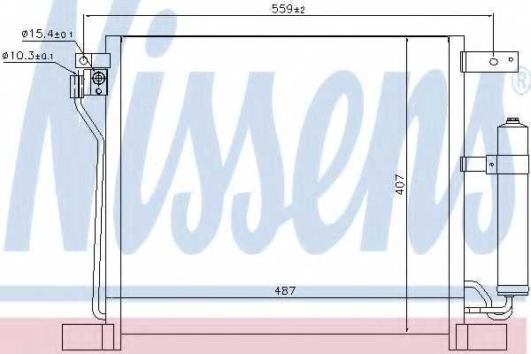 Конденсатор кондиционера NISSENS 940384 - изображение