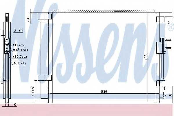 Конденсатор кондиционера NISSENS 940391 - изображение