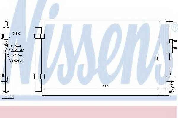 Конденсатор кондиционера NISSENS 940392 - изображение