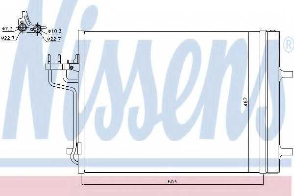 Конденсатор кондиционера NISSENS 940398 - изображение