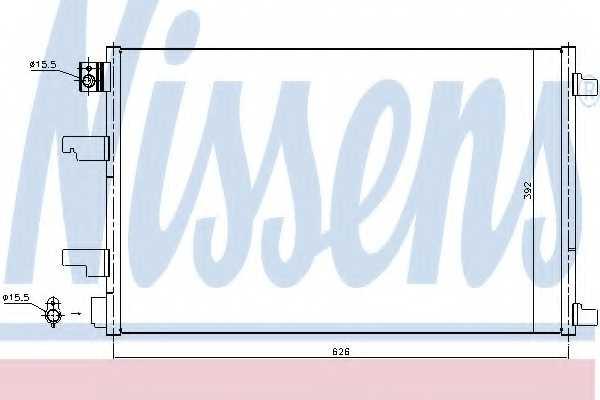 Конденсатор кондиционера NISSENS 940402 - изображение