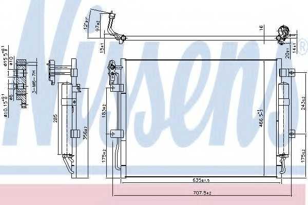 Конденсатор кондиционера NISSENS 940406 - изображение