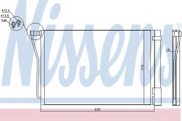 Конденсатор кондиционера NISSENS 940418 - изображение