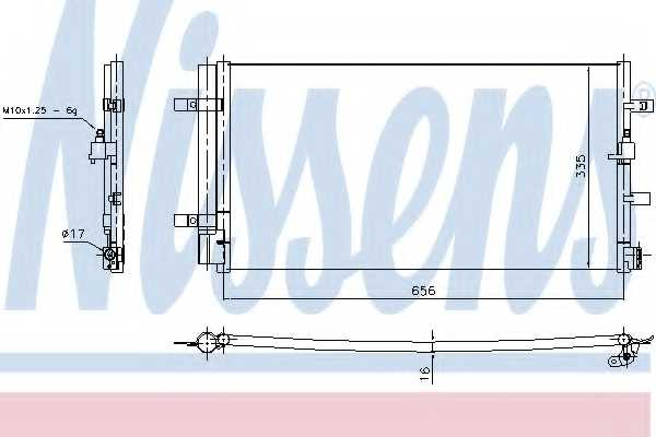 Конденсатор кондиционера NISSENS 940430 - изображение