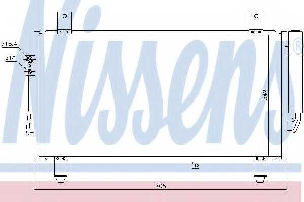 Конденсатор кондиционера NISSENS 940435 - изображение