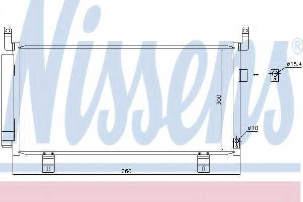 Конденсатор кондиционера NISSENS 940437 - изображение