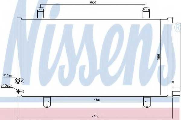 Конденсатор кондиционера NISSENS 940443 - изображение