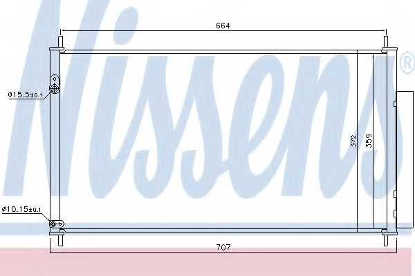 Конденсатор кондиционера NISSENS 940446 - изображение