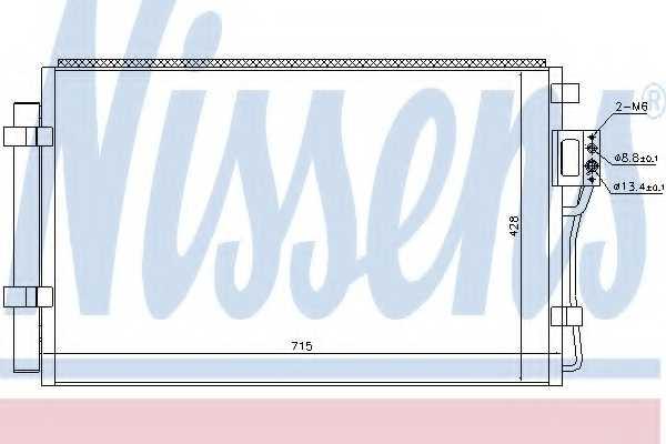 Конденсатор кондиционера NISSENS 940449 - изображение