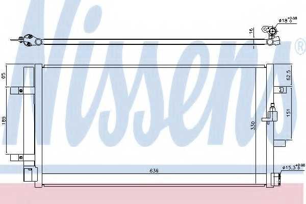 Конденсатор кондиционера NISSENS 940453 - изображение