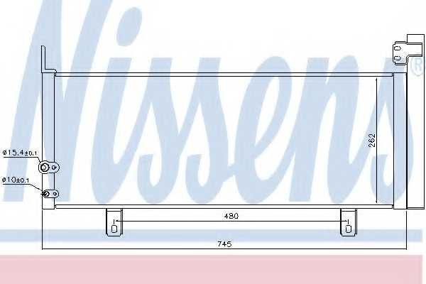 Конденсатор кондиционера NISSENS 940499 - изображение