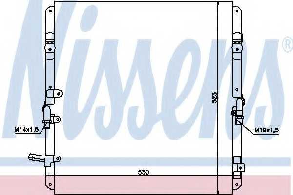 Конденсатор кондиционера NISSENS 94053 - изображение