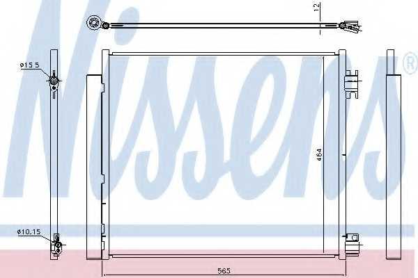 Конденсатор кондиционера NISSENS 940546 - изображение